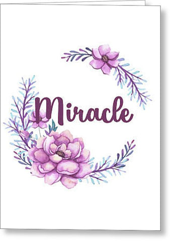 Miracle Inspirational Blank Note Card, Greeting Card with Envelope