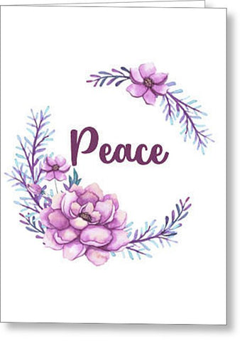 Peace Inspirational Blank Note Card, Greeting Card with Envelope
