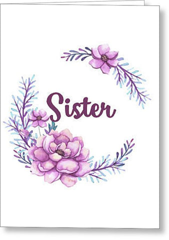Sister Blank Note Card, Greeting Card with Envelope