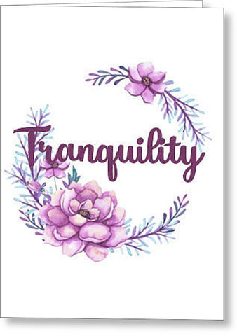 Tranquility Inspirational Blank Note Card, Greeting Card with Envelope