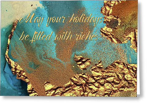 Holiday Blank Note Card, Greeting Card with Envelope