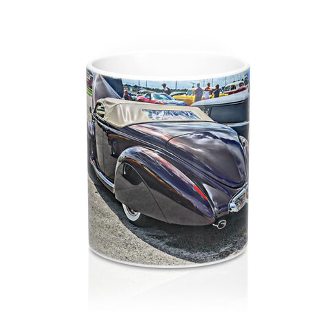 1940 Lincoln Zephyr Custom Car Hotrod Mug 11oz, Coffee Mug for Guys, Hot rod Coffee Mug