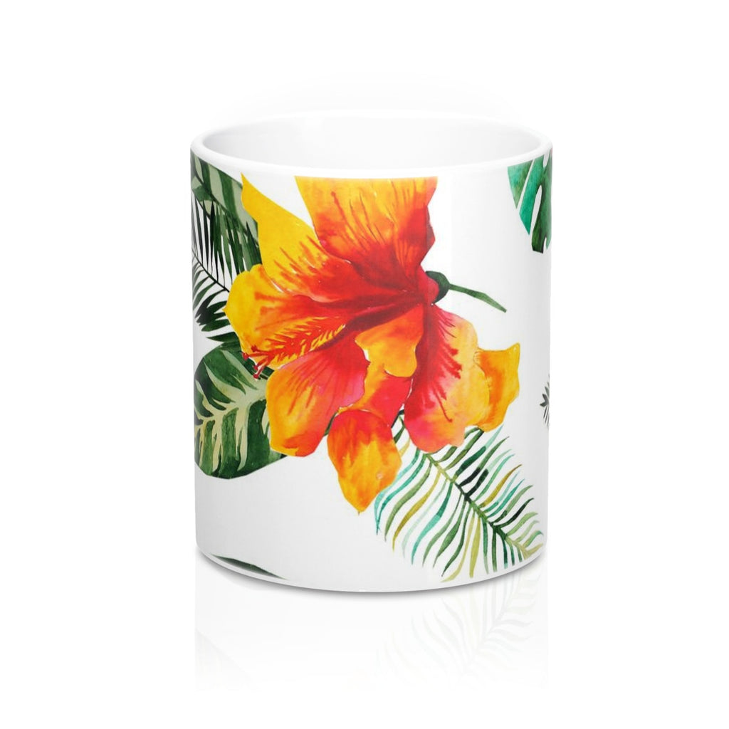 Hibiscus Bloom Flower Mug 11oz