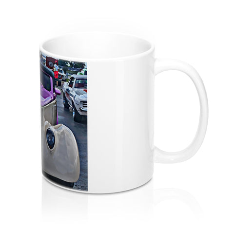 1937 Ford Custom Car Hot Rod Mug 11oz, Ceramic Coffee Mug, Hotrod Coffee Mug