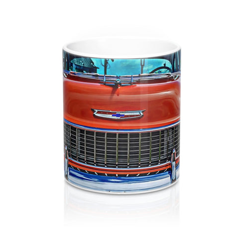 1955 Chevrolet Tri-Five Custom Car Mug 11oz, Coffee Mug for Guys, Hot rod Coffee mug