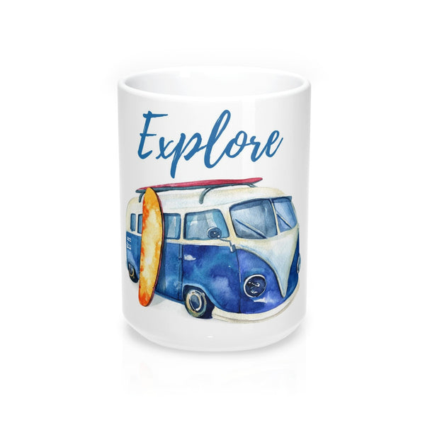 Explore VW Van Beach Coffee Mug 15oz
