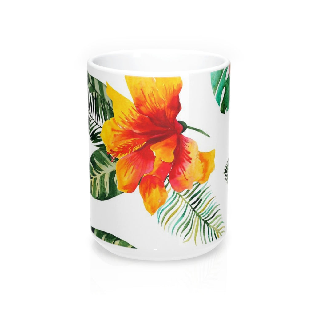 Hibiscus Bloom Flower Mug 15oz