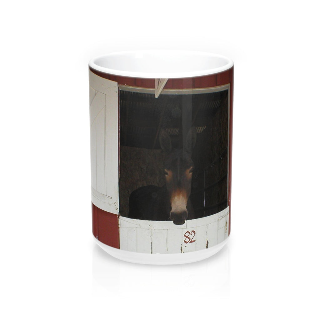 Mule in Barn Mug 15oz
