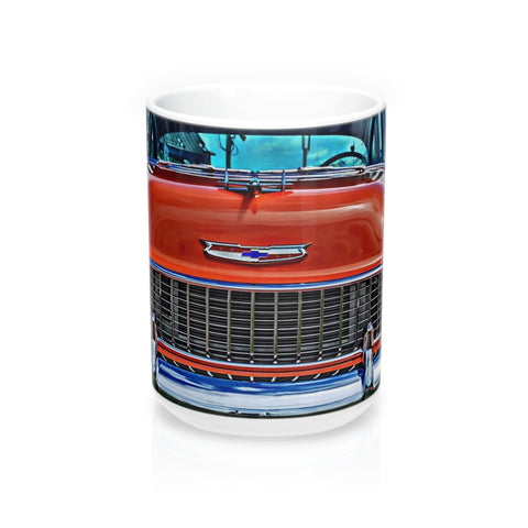 1955 Chevrolet Tri-Five Hotrod Mug 15oz, Coffee Mug for Guys, Hot rod Coffee Mug