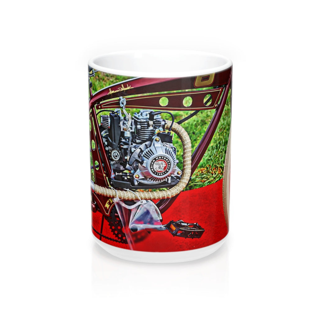 Indian Bicycle Motorcycle Mug 15oz