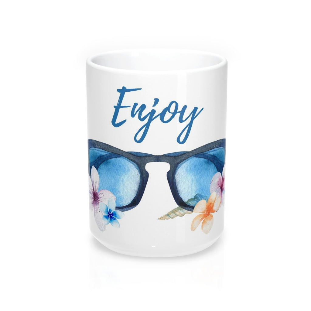 Enjoy Sunglasses Beach Theme Mug 15oz
