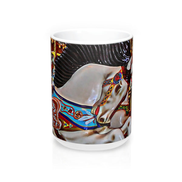 Seattle Carousel Horse Coffee Mugs 15oz Ceramic
