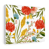 Summer Flowers Watercolor Canvas Gallery Wraps