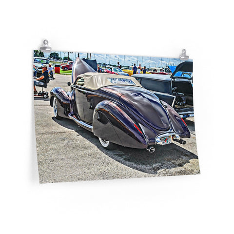 1940 Lincoln Zephyr Custom Car Hotrod Poster