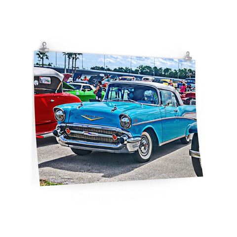 1957 Chevrolet Bel Air Custom Car Hotrod Posters