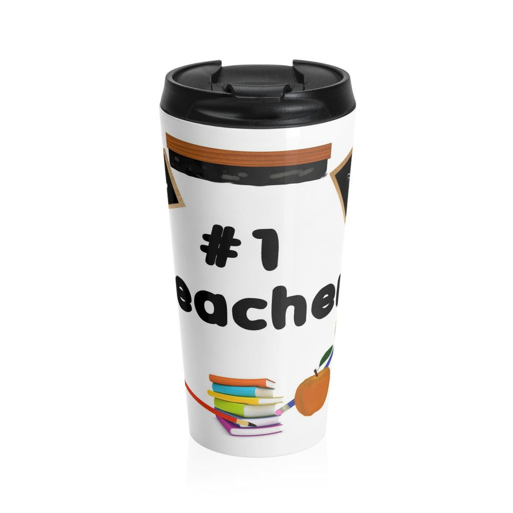 No. 1 Teacher Stainless Steel Travel Mug  15 oz