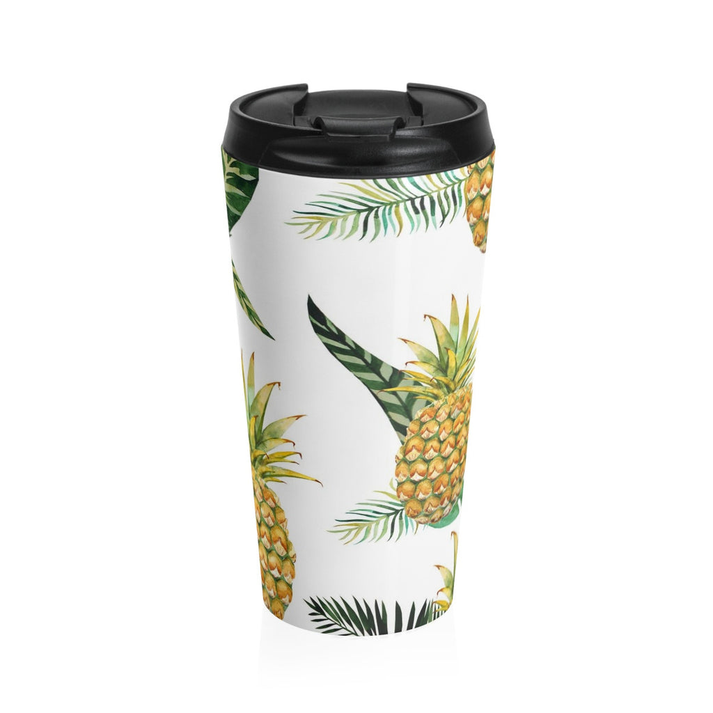 Welcome Pineapple Stainless Steel Travel Mug 15 oz