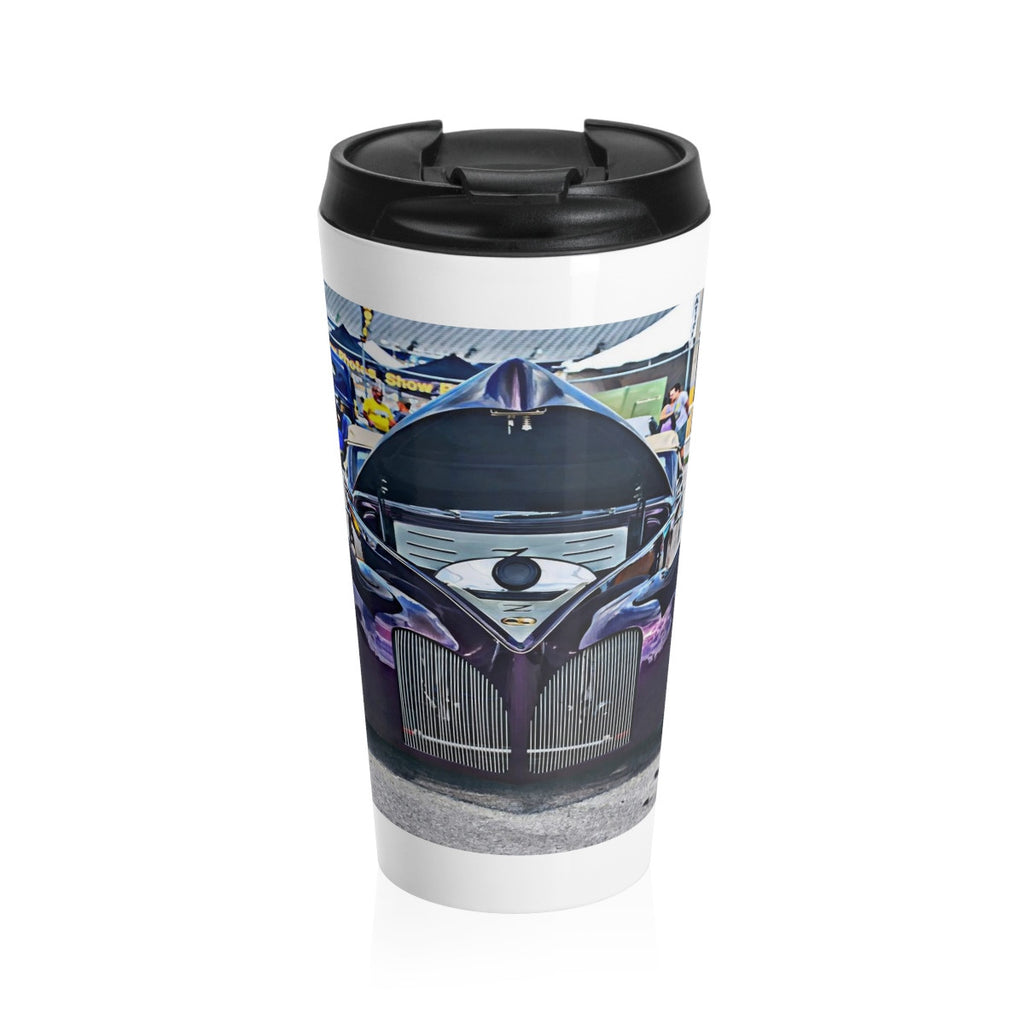 1940 Lincoln Zephry Custom Car Stainless Steel Travel Mug, Coffee Mug for Guys, Hotrod Coffee Mug