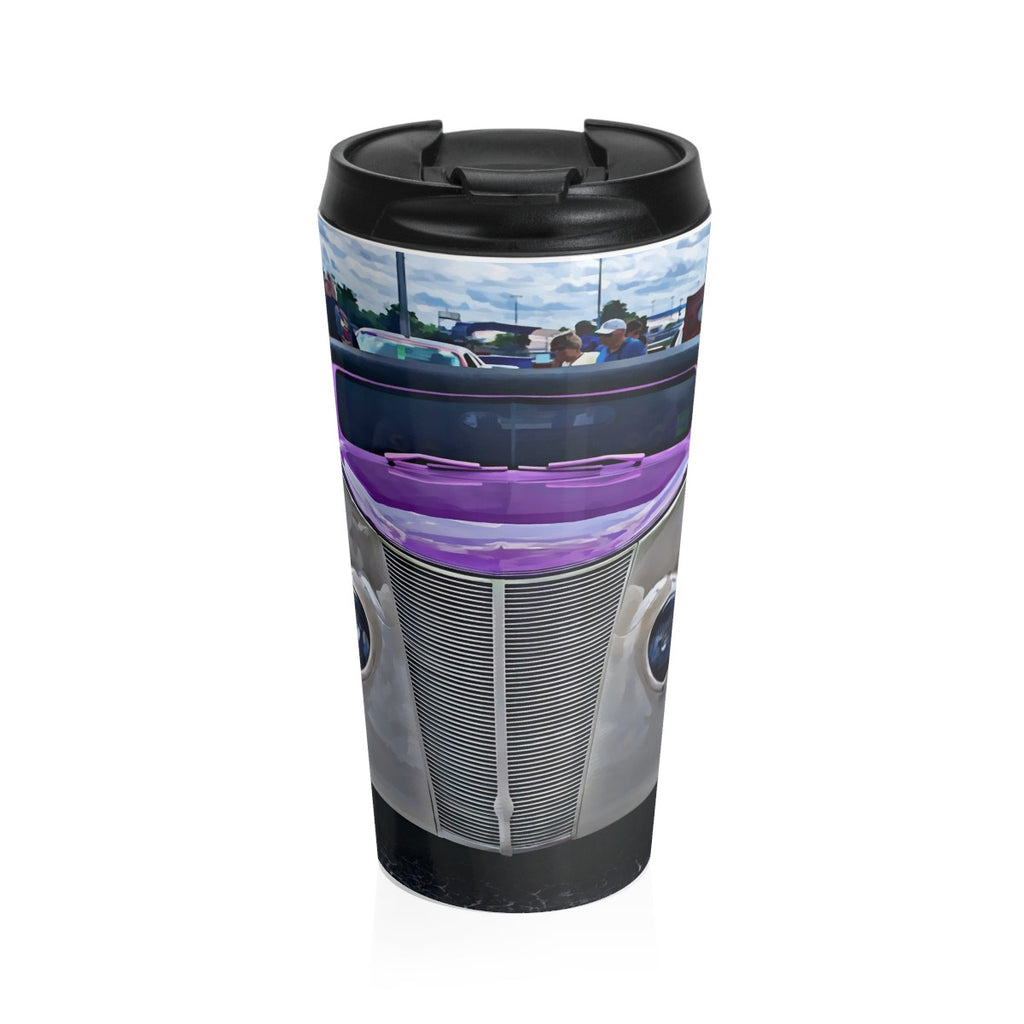 1937 Ford Custom Car Hotrod Stainless Steel Travel Mug, Coffee Mug for Guys, Hotrod Coffee Mug