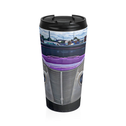 1937 Ford Custom Car Hot  rod Stainless Steel Travel Mug, Coffee Mug for Guys, Hotrod Coffee Mug