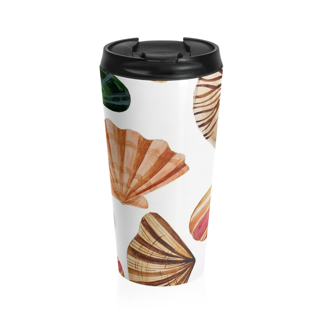 Beach Seashells Stainless Steel Travel Mug 15 oz