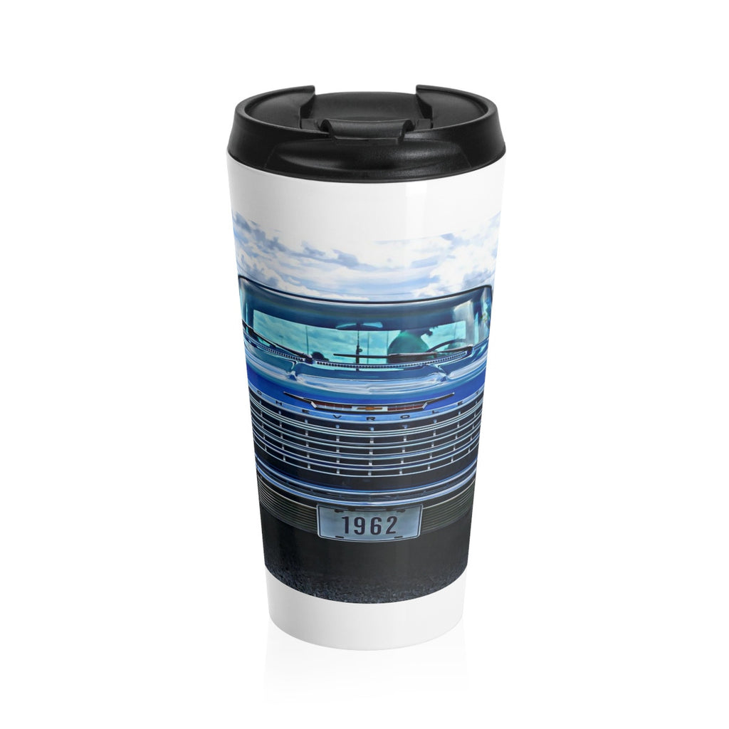 1962 Chevy Impala Hotrod Stainless Steel Travel Mug, Coffee Mug for Guys, Hotrod Coffee Mug