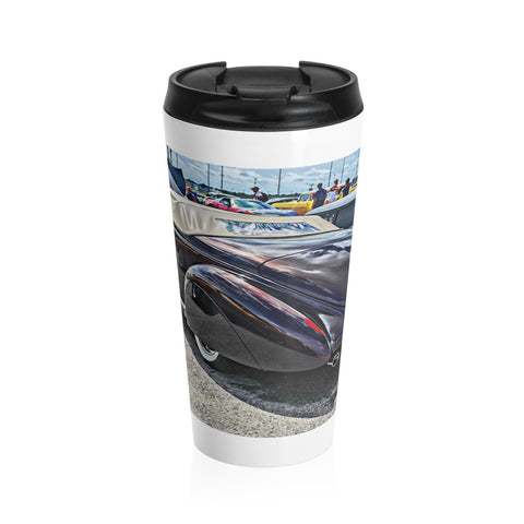 1940 Lincoln Zephyr Custom Car Hot rod Stainless Steel Travel Mug, Coffee Mug for Guys, Hotrod Coffee Mug
