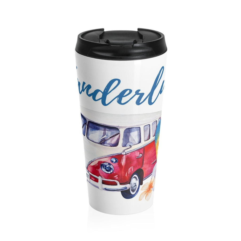 VW Wanderlust Beach Stainless Steel Travel Mug 15 oz