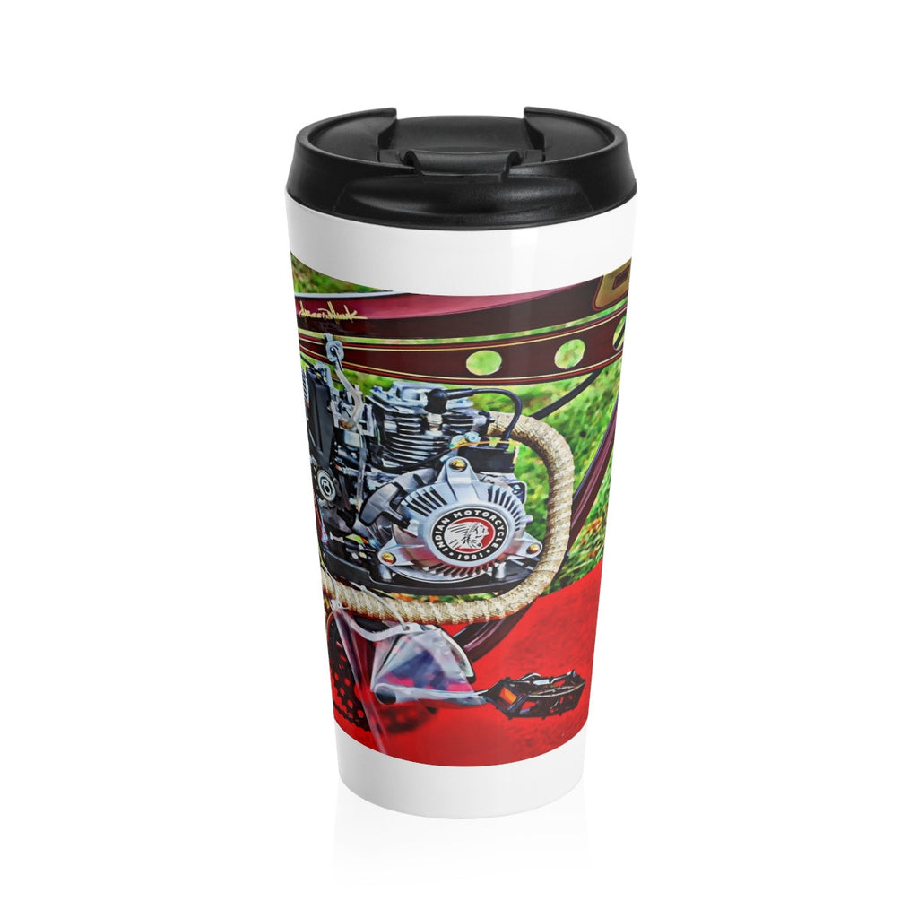 Indian Motorcycle Bicycle Motor Stainless Steel Travel Mug 15 oz