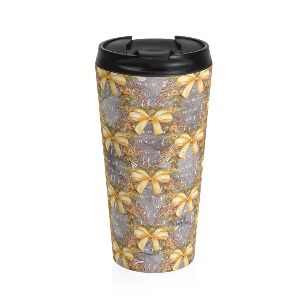 Gold Bows Stainless Steel Travel Mug 15 oz