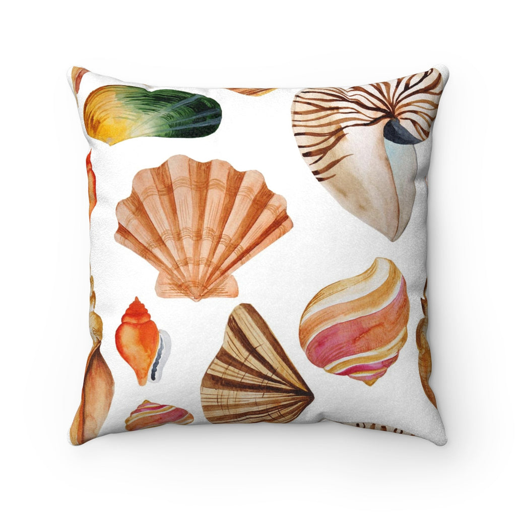 Beach Sea Shell Decorative Throw Pillow, Tropical Theme Throw Pillow, Throw Pillow for Beach House