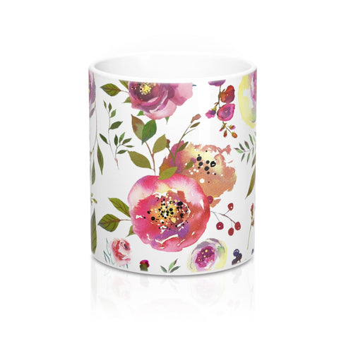 Watercolor Roses Flower Coffee Mugs Ceramic 11 oz 15 oz