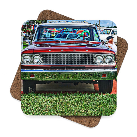 Ford Square Hardboard Coaster Set - 4pcs