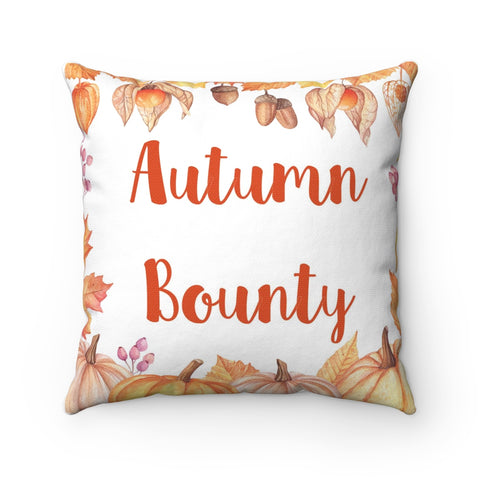 Autumn Bounty Fall Decor Throw Pillow