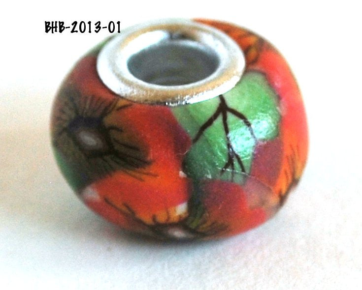 Handmade Polymer Clay Beads, Polymer Clay Beads for Sale, Jewelry Making Supplies, Euro Style Beads