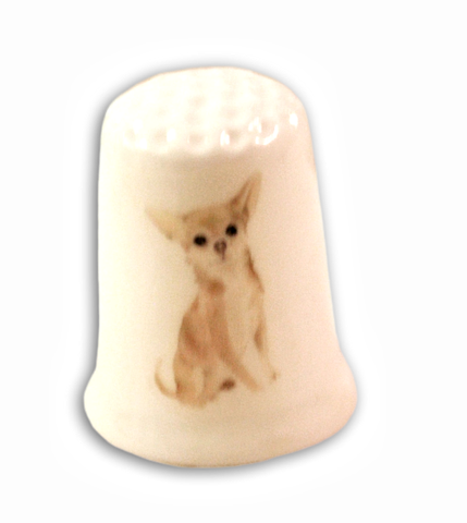 Chihuahua Dog Collectible Thimbles Decorative Handmade