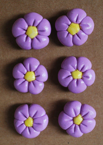 Decorative Purple Flower Corkboard Thumbtacks,  Pushpins