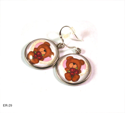 teddy bear earrings