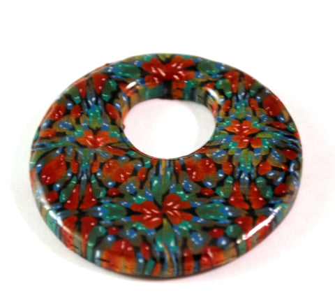 45mm Donut Focal Handmade Polymer Clay Beads Jewelry Supplies