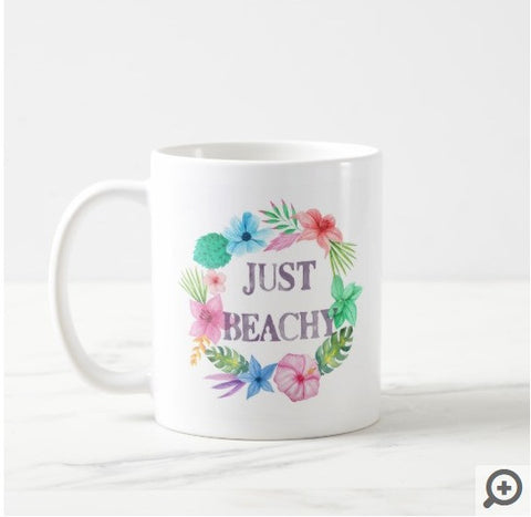 Tropical Theme Beach House Coffee Mug