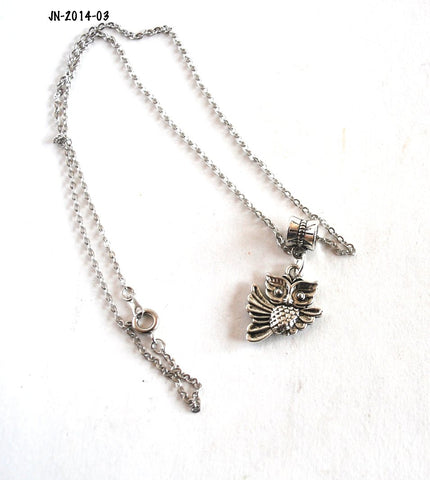 Owl Charm Chain Necklace for Women or Teens