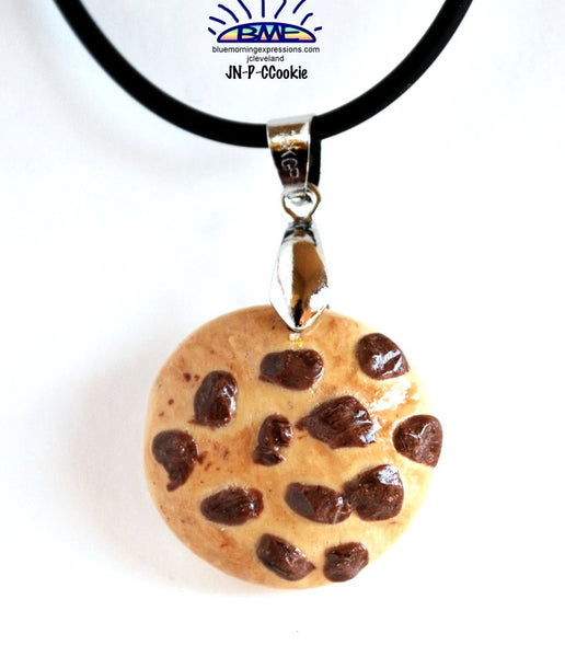 Chocolate Chip Cookie Pendant Necklace Novelty Jewelry