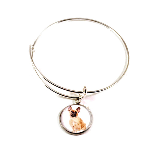 French Bulldog charm bracelet