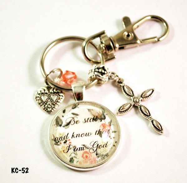 Christian Bible Verse Handmade Beaded Keyring for Women