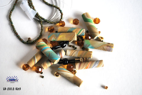 handmade polymer clay bead kit for making jewelry
