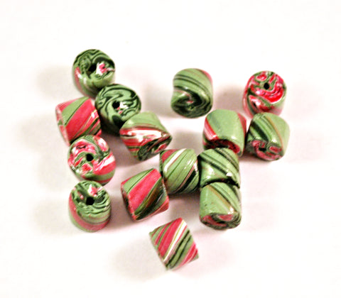 15 Tube Handmade Polymer Clay Beads Jewelry Making Supplies