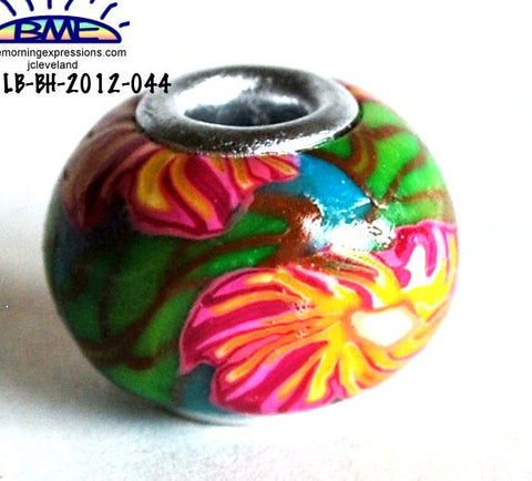 handmade polymer clay big hole beads