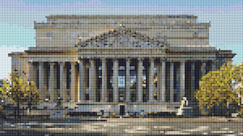 National Archives Washington D.C. Counted Cross Stitch Pattern