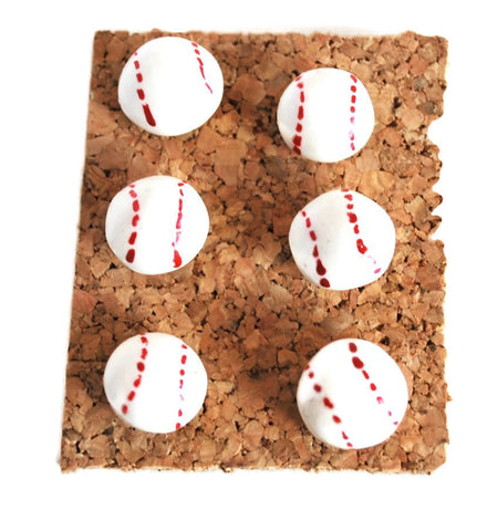 Baseball Push pins, Thumbtacks for Cork Boards Bulletin Board