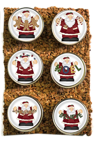 Large Christmas Santa Thumbtacks and Corkboard Pushpins for Bulletin Boards